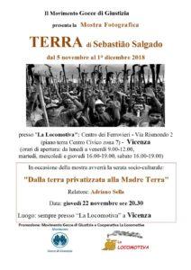 locandinaA mostra Salgado e serata culturale (Gocce e Locomotiva)